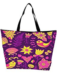 Snoogg Seamless Texture With Flowers Waterproof Bag Made Of High Strength Nylon - B01I1KFYKQ