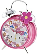 Hello Kitty HKC490 Twin Bell Alarm Clock (Pink)