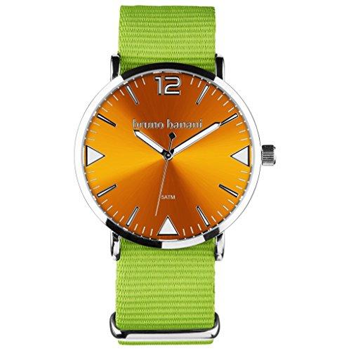 Bruno Banani BR30062Color Watch Unisex Analogue Air Tape Metal M Green Orange