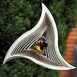 "Windspiel ""TRIANGLE MOBILE"" aus Edelstahl mit 35 mm Glaskugel -Farben"