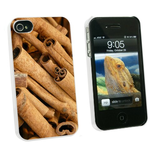 Cinnamon Sticks - Dried Brown Spice - Snap On Hard Protective Case for Apple iPhone 4 4S - White