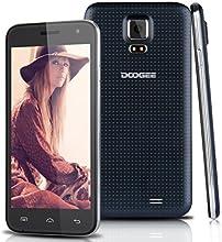 "DOOGEE VOYAGER2 DG310 Telefono Movil 3G Libre Con Pantalla de 5"" Pulgadas IPS Smartphone Android 4.4 Dual SIM Quad Core 1.3GHz de 1G RAM + 8G ROM GPS WIFI T-Mobile - Color Negro"