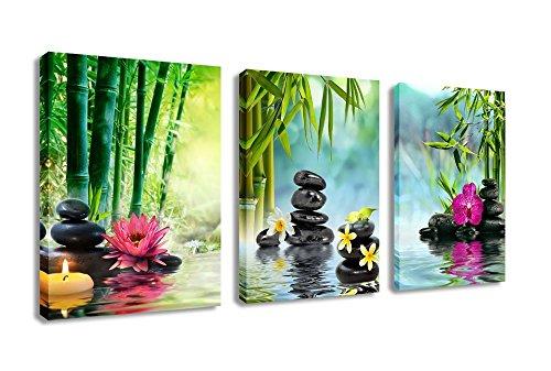 X Large Canvas Prints Zen Wall Art Spa Black Stone Green