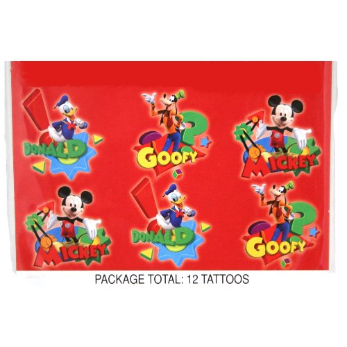 Mickey Mouse Clubhouse Tattoos : package of 4