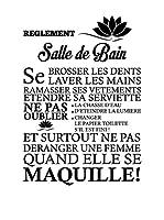 ZZ-Ambiance-sticker Vinilo Decorativo Les Règles De La Salle De Bain