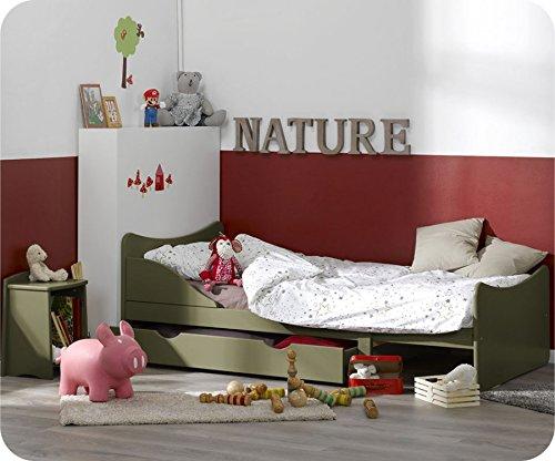 Mitwachsendes Kinderbett Ivoo Olivgrün