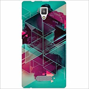 Lenevo A2010 Back Cover - Silicon Abstract Designer Cases