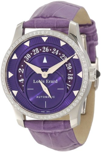 Louis Erard Women's 92600SE07.BDC93 Emotion Automatic Diamond Purple Date Watch