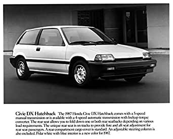 1987 honda civic dx hatchback factory photo at amazon 39 s. Black Bedroom Furniture Sets. Home Design Ideas