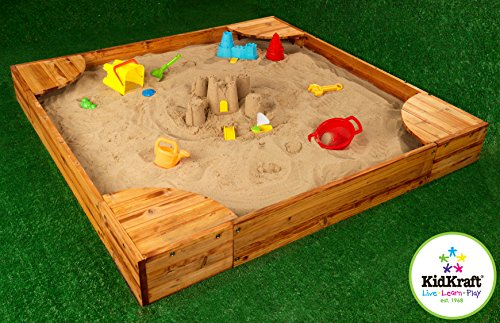 Outdoor Activity Kid Backyard Sandbox Large Children Wood Panel Sand