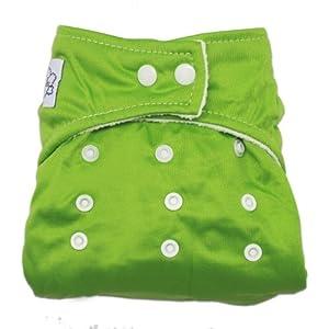 MANGO-Pañal Bañador De Tela Para Bebé Ajustable Tamaño ,color verde en BebeHogar.com