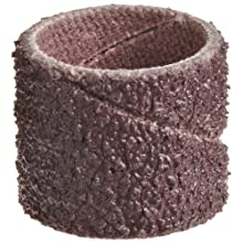 3M  Cloth Band 341D, 1/2&#034; Diameter x 1/2&#034; Width, 60 Grit, Brown (Pack of 100)