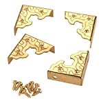 Filigree Box Corners Brass 4-piece