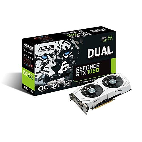 ASUSTek NVIDIA GeForce GTX1060搭載ビデオカード オーバークロック メモリ3GB DUAL-GTX1060-O3G