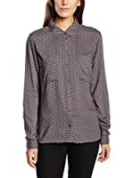 Tom Tailor Denim Camisa Mujer loose viscose blouse/512 (Gris)