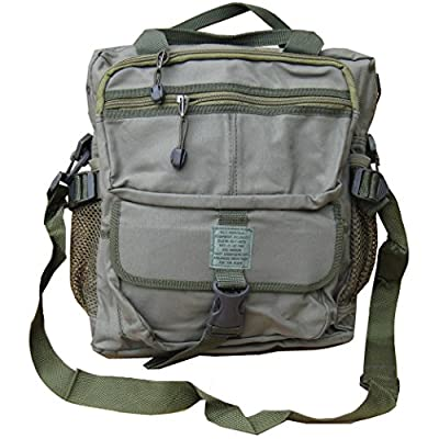 Zip Zap Zooom Mens US Army Style Retro Combat Cargo Travel Shoulder Bag Messenger Surplus A4 New