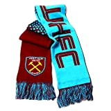 West Ham United FC Football Team Fade Knitted Supporters Scarf