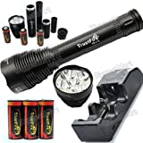 TrustFire 4500Lumen Cree XM-L 5xT6 Led Flashlight+3Pcs 26650 Battery+Charger