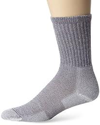 Thorlos Men\'s Hiking Ultra Lite Crew Sock,Large (Shoe Size 9-12.5),Quarry Grey