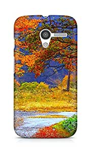 Amez designer printed 3d premium high quality back case cover for Motorola Moto X (nature beauty scenary)