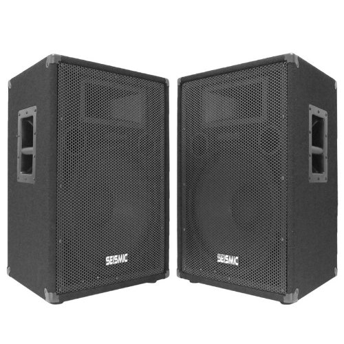 "Seismic Audio - Fl-15P (Pair) - Pro Audio Pa/Dj 15"" Speakers - 100% Birch Plywood - 800 Watts"
