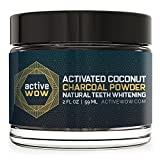 Active Wow Teeth Whitening - Charcoal Powder Natural Teeth Whitening
