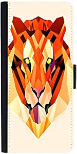 Snoogg Polygon Tiger 2896 Designer Protective Flip Case Cover For Samsung Gal...