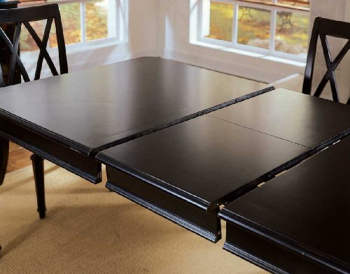 American Drew Camden Leg Formal Dining Table in Black Finish