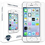 Tech Armor Apple iPhone 5S / iPhone 5C / iPhone 5 Premium Ballistic Glass Screen Protector - World's Clearest Screen Protector - Retail Packaging