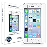 iPhone 5 Glass Screen Protector, Tech Armor Premium Ballistic Glass Apple iPhone 5C / 5S / 5 / SE Screen Protectors [1]