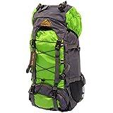 (PLUSONE) 登山 アウトドア キャンプ 防災用 大容量 バックパック リュック 60L 【CX-105】 (ライトグリーン)
