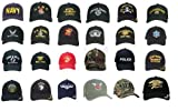 Army, Navy, Military, USMC, Police, Fire Department Insignia Adjustable Caps