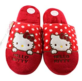 Red Hello Kitty Slippers - Hello Kitty Plush Slippers