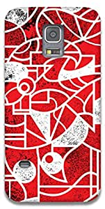 The Racoon Grip Red & White hard plastic printed back case / cover for Samsung Galaxy S5 Mini