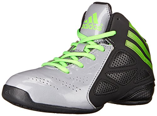adidas Performance NXT LVL SPD Next Level Speed 2 K Mid-Cut Basketball Shoe (Little Kid/Big Kid), Light Onix/Neon Green/Black 1, 11 M US Little Kid (High Top Adidas For Boys compare prices)