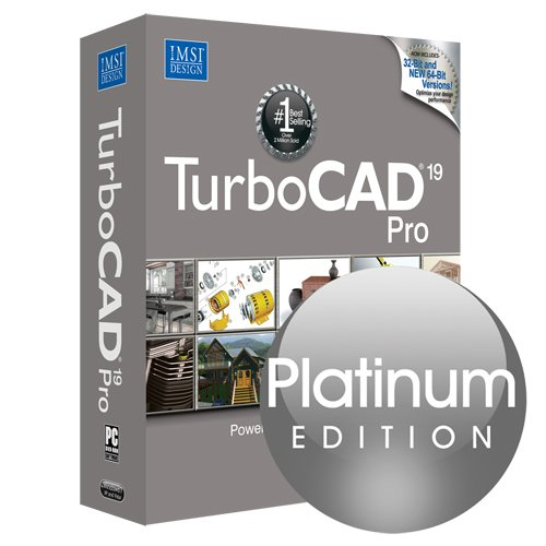 Turbocad Pro 19 Platinum Edition Professional 2D & 3D Cad Software For Windows