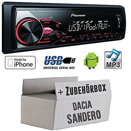 Dacia sandero 2-pioneer mVH - 180UI mP3/uSB avec kit de montage