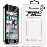 Highend berry iPhone 5 / iPhone 5s / iPhone 5c 気泡 が 簡単 に 消え キズ が 付きにくい 日本製強化ガラス 液晶保護フィルム 防指紋 硬度9H 薄型0.33mm 2.5D ラウンドエッジ加工