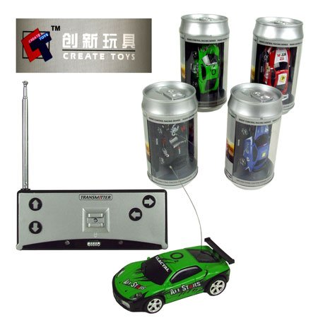 Create Toys Mini Radio Control Racing Car in a Soda Can (Assorted)