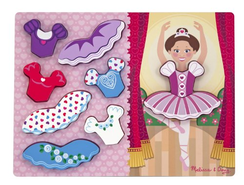 Melissa & Doug Ballerina Dress-Up Chunky Puzzle