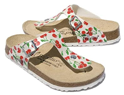 New Birkenstock Gizeh Cherry Print Ladies 40 R 9 $95