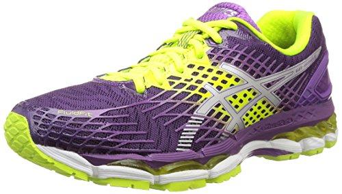 ASICS Gel-Nimbus 17 - Zapatillas de running para mujer, color morado (plum/silver/flash yellow 3793), talla 42 EU (8 UK/10 US)