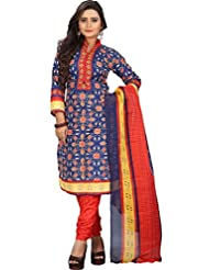 Sonal Trendz Blue Color Polycotton Printed Dress Material.Party Wear Festive Wear. - B019J04GZ6