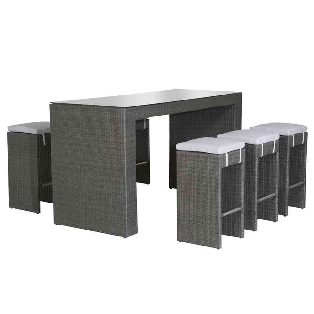 Siena Garden 672942 Bar-Set Dayton, Aluminium Untergestell, Gardino-Geflecht, titan