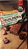 Clif Bar Builders Bar, 9 Chocolate Mint, 9 Chocolate Peanut Butter, 2.4 oz, Total of 18 Bars