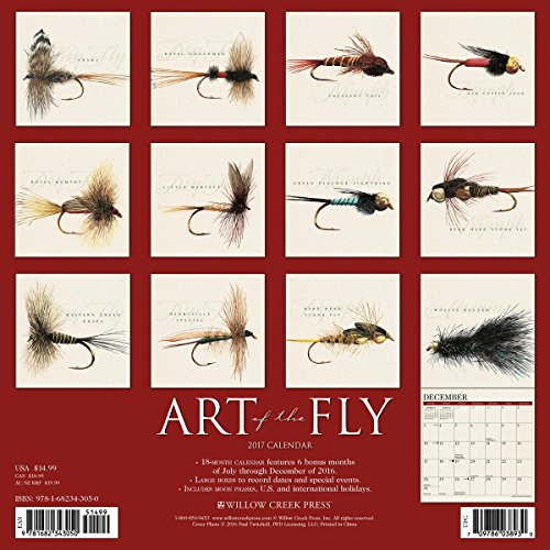 Art of the Fly by Paul Twitchell 2017 Wall Calendar