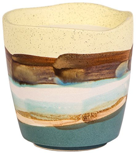 Paddywax Terrain Soy Wax Candle in Hand-painted Ceramic Pot, 9-Ounce, Earl Grey and Cucumber