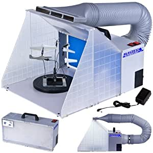 Master Airbrush® Brand Portable Hobby Airbrush Spray Booth (without Optional LED Lighting) for Painting All Art, Cake, Craft, Hobby, Nails, T-shirts & More. Includes Our Exhaust Extension Hose That Extends up to 5.6 Feet.