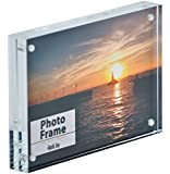 "Clear Acrylic Magnet Photo Frame Block (4x6"") by Nicom"