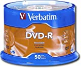Verbatim 95101 four.7 GB as much as 16x Branded Recordable Disc AZO DVD-R 50-Disc Spindle